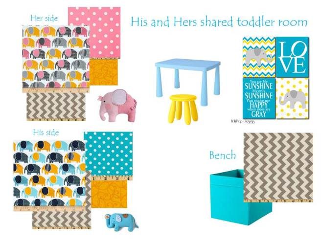Designing a shared boy, girl toddler room